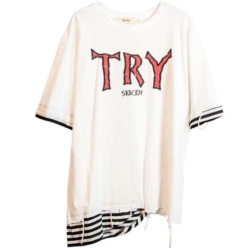 娉语@易燃 夏季创意短袖t恤衫男2018新款日系青年潮流
