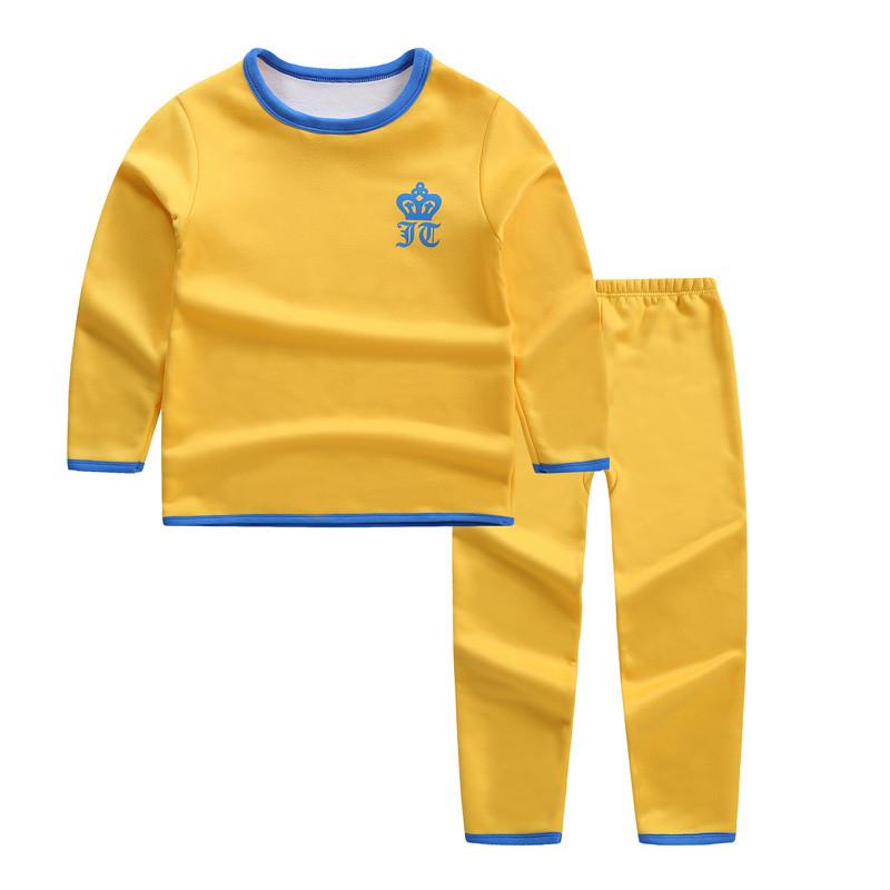 儿童保暖内衣套装秋冬季3中大童加绒加厚宝宝睡衣5女童男童保暖衣
