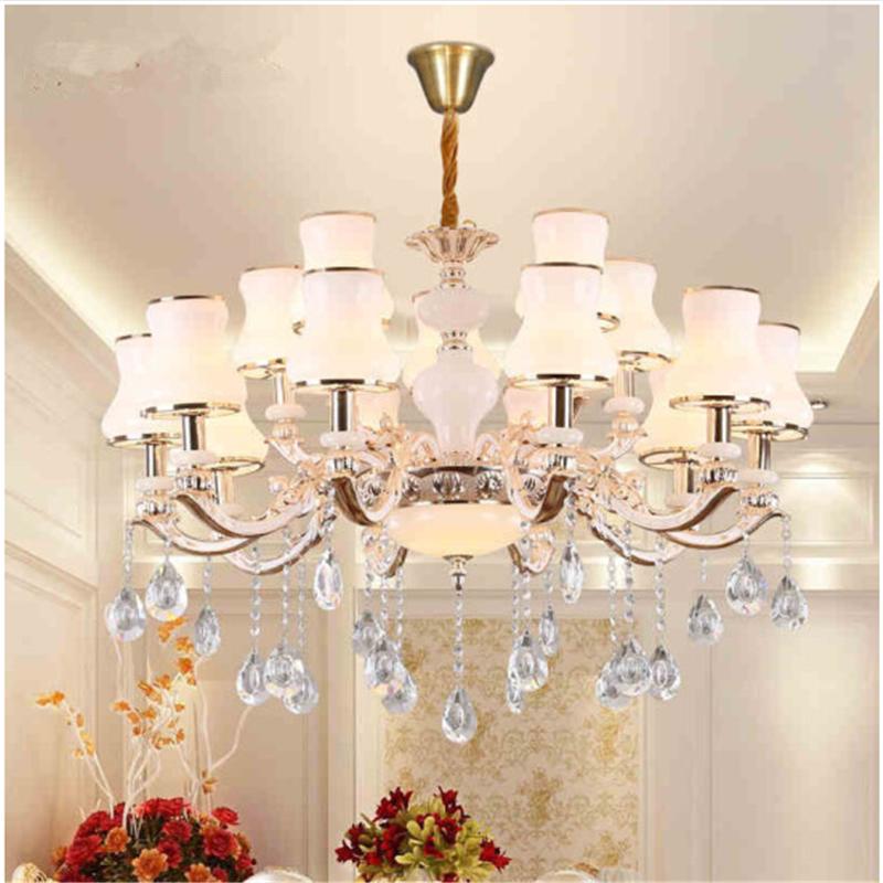 法宝莎照明客厅吊灯欧普欧式水晶吊灯现代简约餐厅卧室美式灯具锌合金