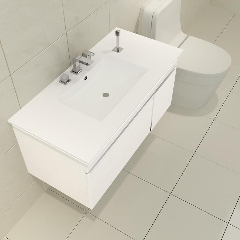 北欧风格免漆浴室柜组合现代简约洗手盆洗脸盆柜卫生间洗漱台面盆图片