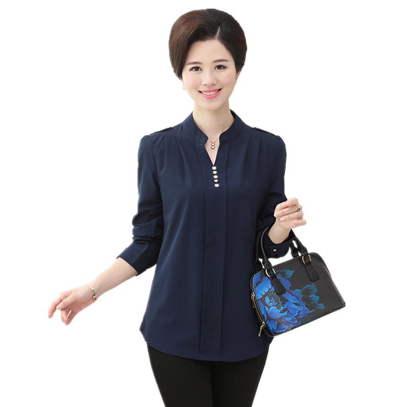 中年服装_娉语妈妈装春夏装衬衣50岁衣服中老年人衬衫 中年妇女