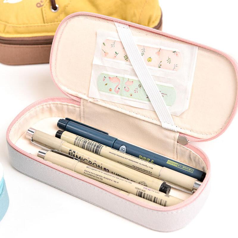ctrlcity新款韩国文具创意可爱多功能笔袋简约男女帆布鞋子学生大容量