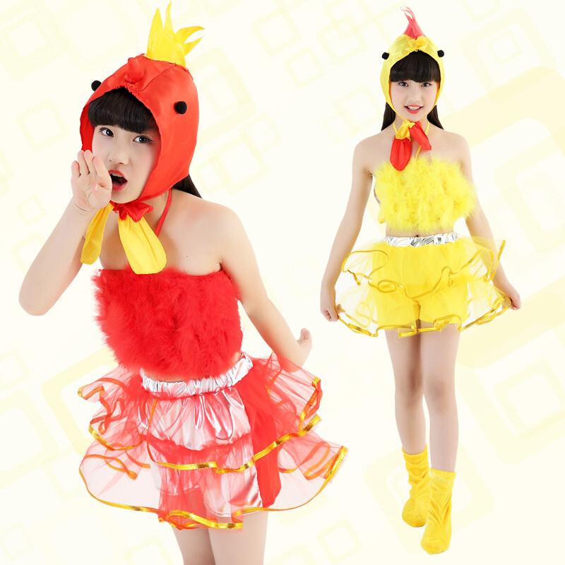 ctrlcity六一新款儿童动物小鸡小鸭演出服装女儿童蓬蓬纱裙舞蹈表演
