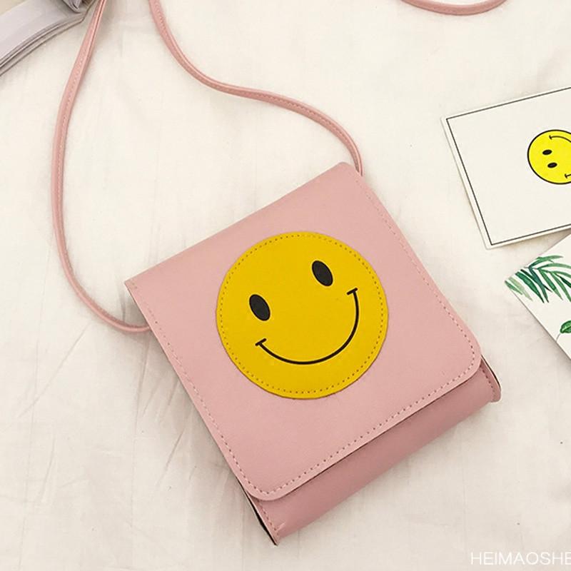 封后韩国可爱小清新笑脸单肩包学生迷你小包学院风撞色斜挎包手机包女