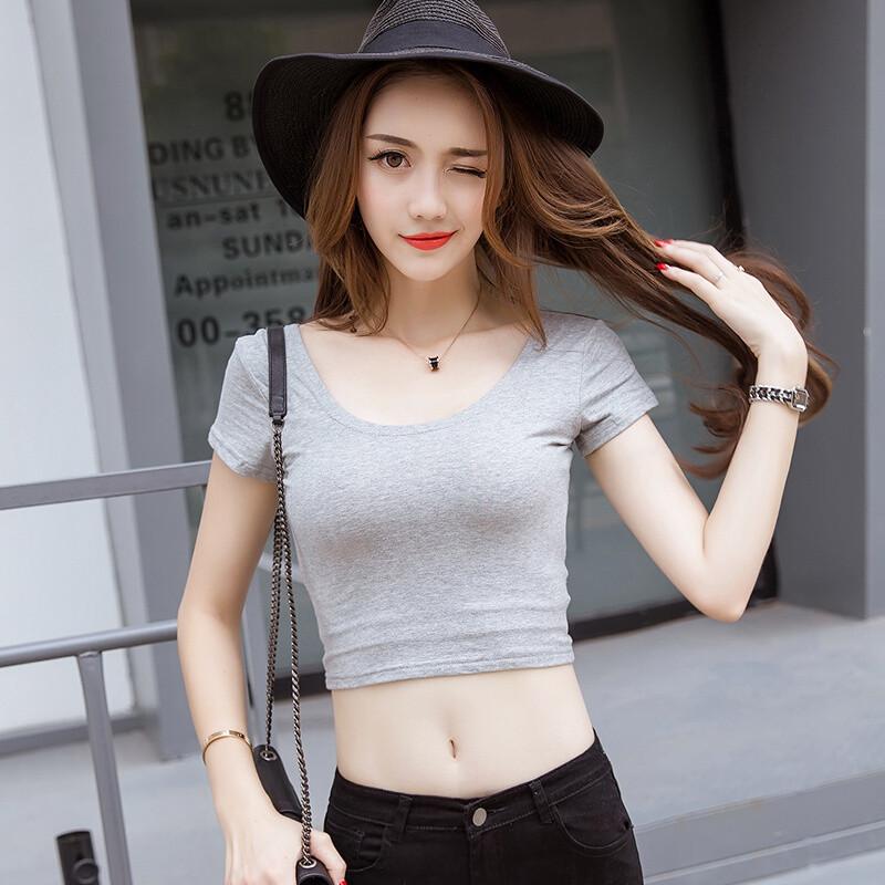 紧身短袖T恤女