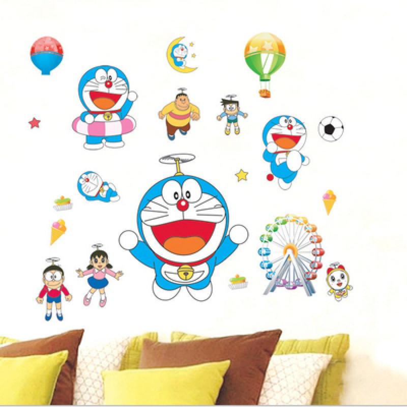 卡通动漫墙贴画海报机器猫儿童房装饰品墙纸自粘卧室温馨墙画贴纸