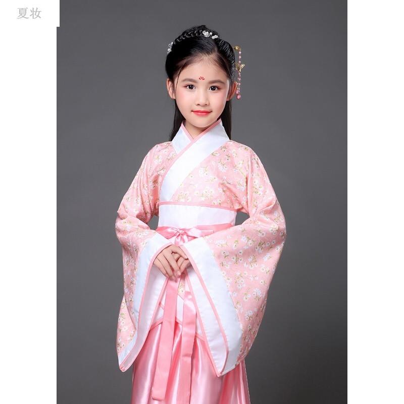 儿童古装唐装女童古装仙女装表演服古代公主古筝汉服影楼写真服装