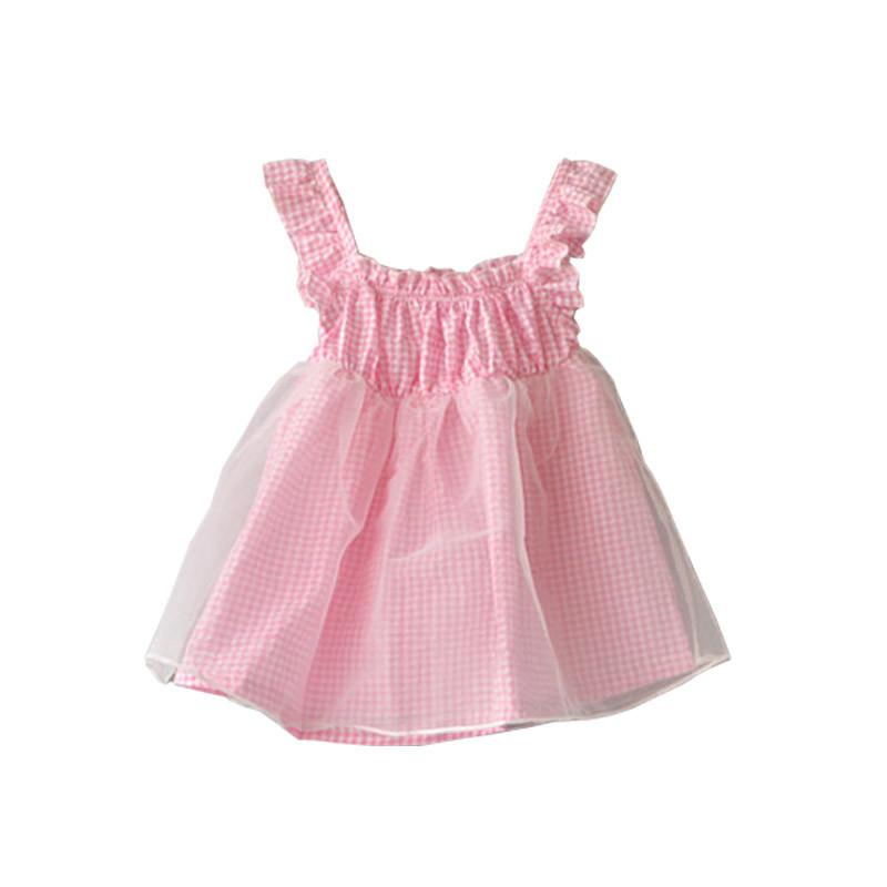 新款女童连衣裙潮宝宝夏装女儿童公主裙小女孩裙夏季2017新款粉色裙子