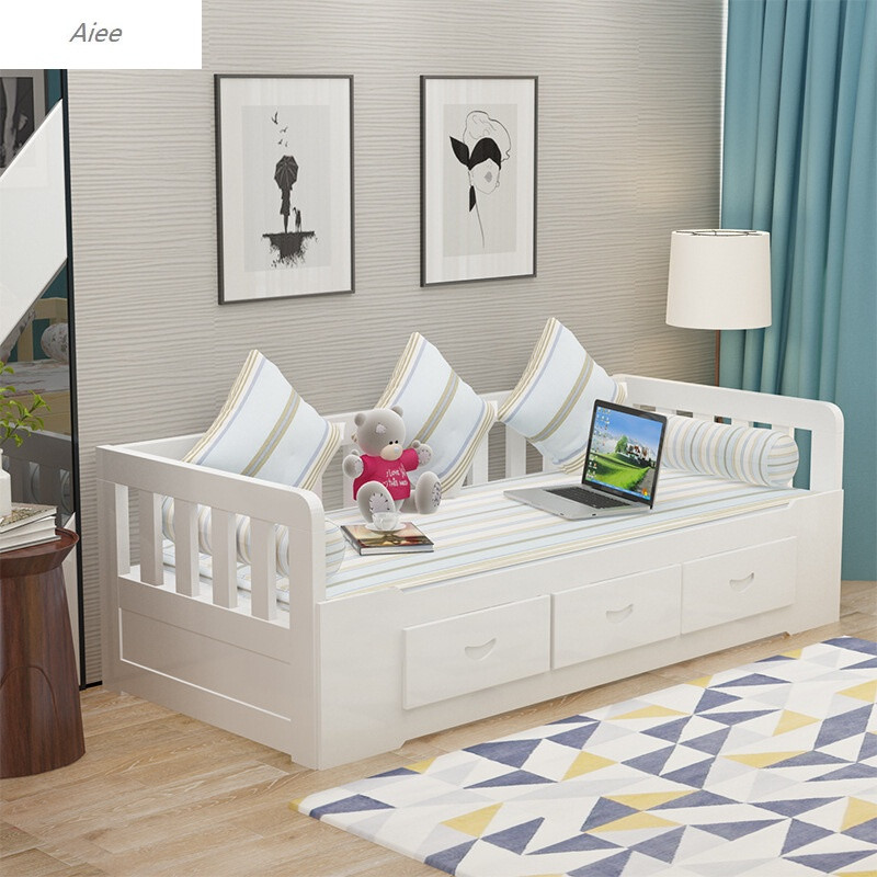 aiee坐卧两用床小户型可折叠实木沙发床多功能推拉床1.5米1.图片