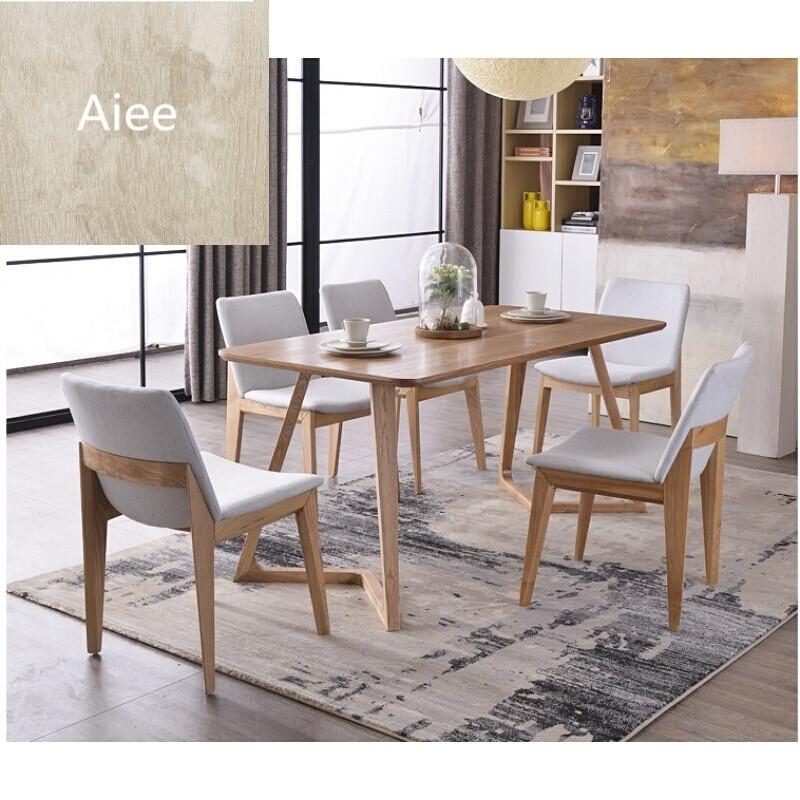 aiee北欧家用餐桌咖啡桌实木餐桌水曲柳实木餐桌酒店餐馆小户型餐桌