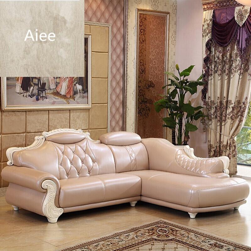 aiee欧式真皮沙发简欧客厅大小户型实木转角贵妃法式组合整装别墅 头图片