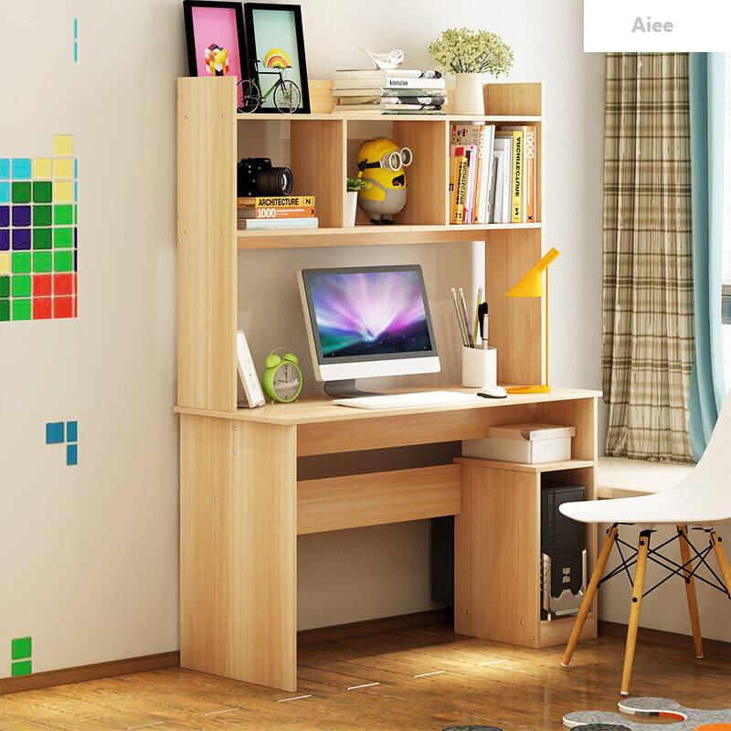 aiee电脑桌台式家用简约现代组装单人办公桌写字桌游戏电脑桌