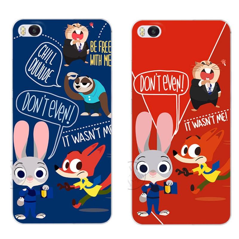 2017款兔狐狸疯狂动物城情侣小米4 5 5s plus note2max手机壳保护套