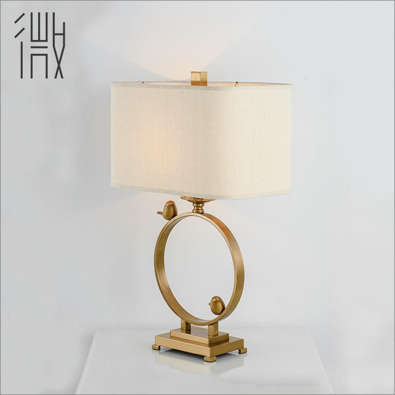 北欧装饰酒店台灯设计师样板房客厅卧室床头灯现代新中式小鸟台灯