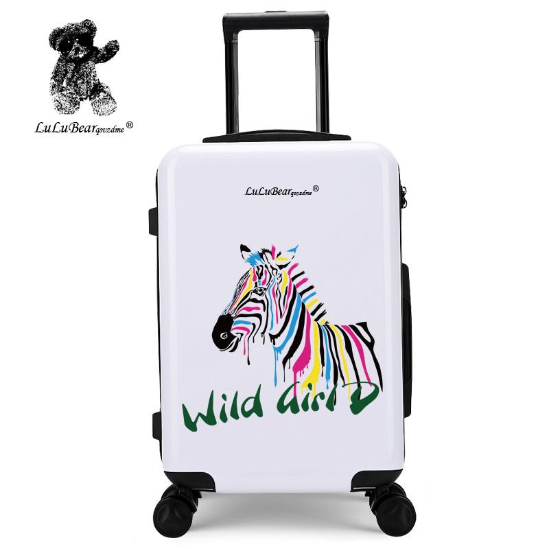法国lulu熊拉杆箱女学生可爱小清新卡通旅行箱20寸万向轮24行李箱韩版