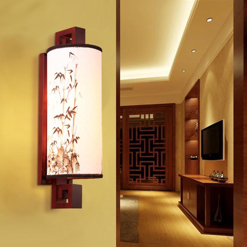 馨韵壁灯床头卧室壁灯现代中式创意仿古酒店过道客厅新中式壁灯具中式