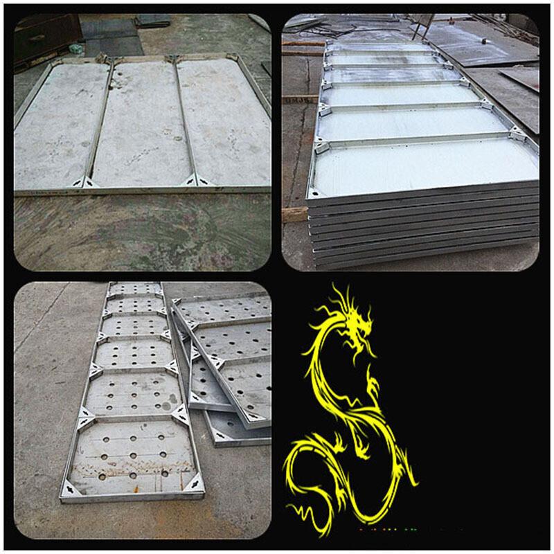 厂家定制不锈钢井盖 隐形窨井盖 雨水排水沟盖板 下沉图片
