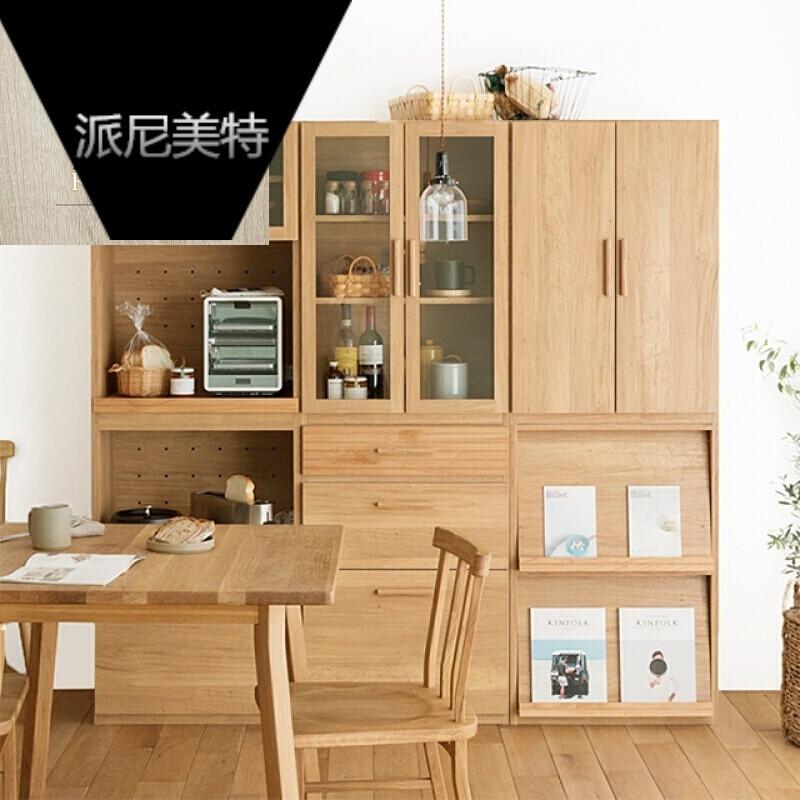 日式餐厅柜北欧餐边柜储物柜子带门厨房橱碗柜间厅组合柜现代简约图片