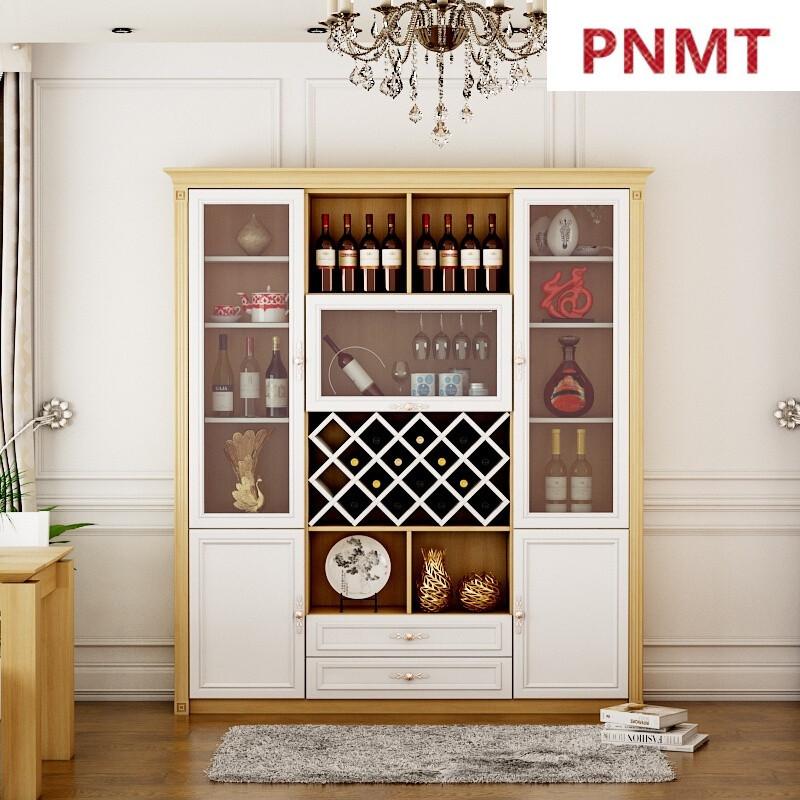 pnmt定制紅酒柜餐邊柜簡約現代餐廳柜子儲物收納柜環保免漆