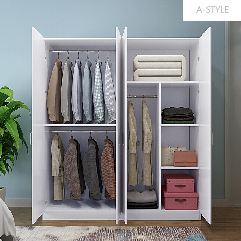 a-style簡易衣柜實木234門衣柜推拉兒童臥室木質衣柜簡約現代經濟型