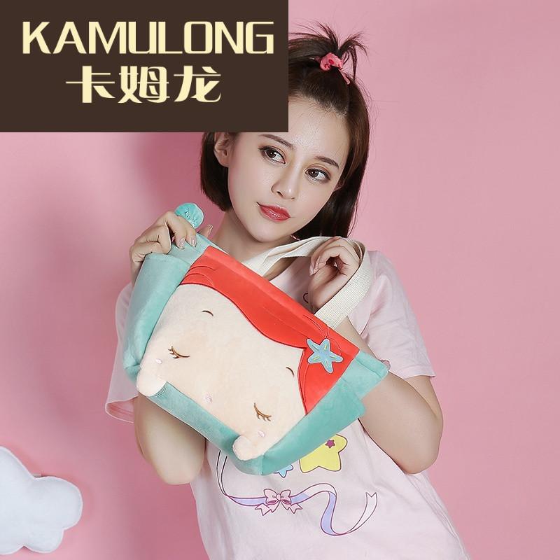kamulong小女孩手拎包可爱包包韩系甜美可爱卖萌专用卡通萝莉休闲包