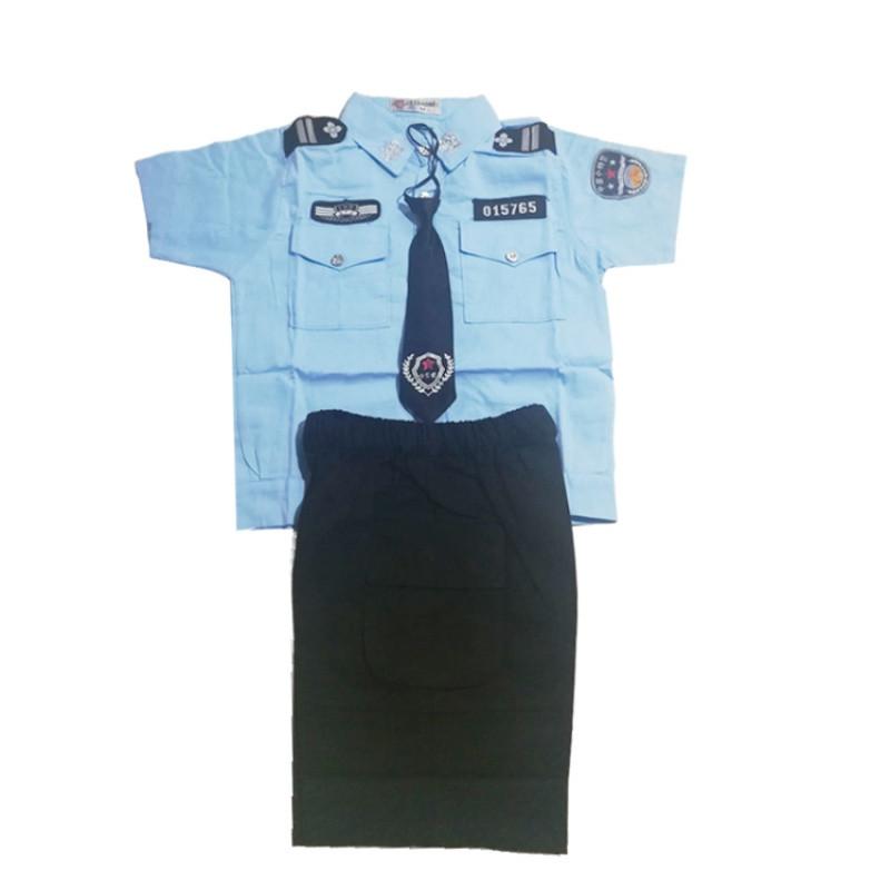 儿童舞蹈幼儿园男女童小警察制服舞蹈演出服饰小交警夏装表演服装