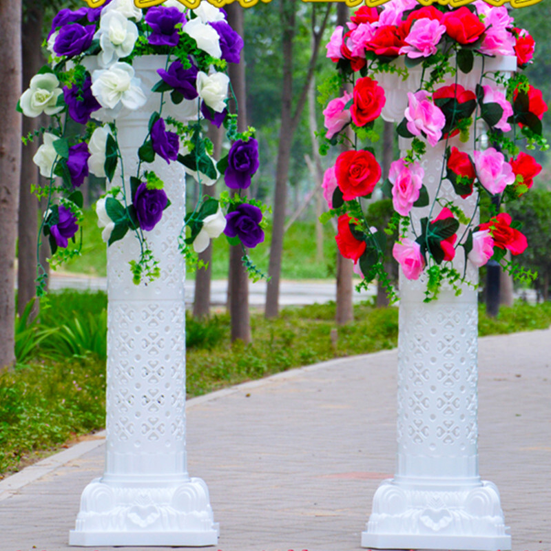 纳丽雅婚庆道具布置塑料镂空罗马柱路引婚礼罗马柱路引花开业