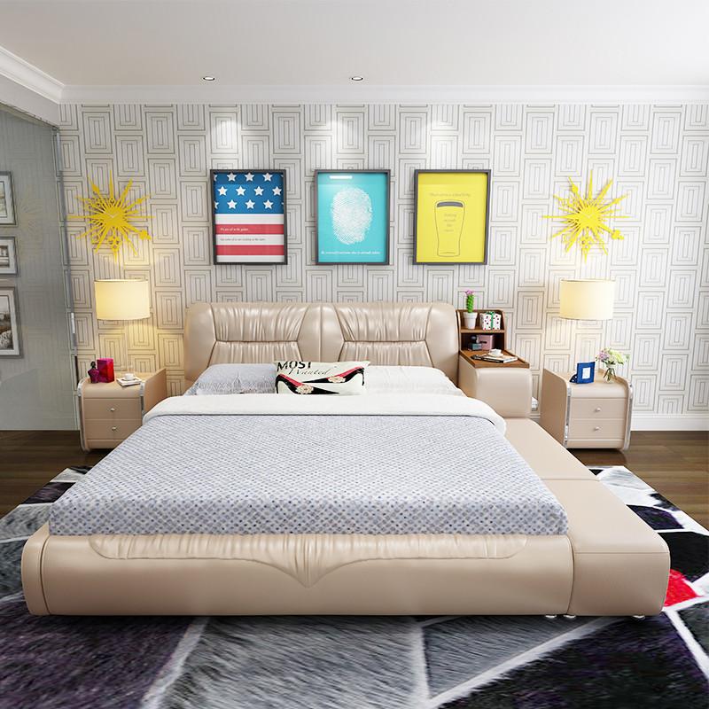 奥派斯 榻榻米皮床 主卧室现代简约榻榻米 1.5米1.8米