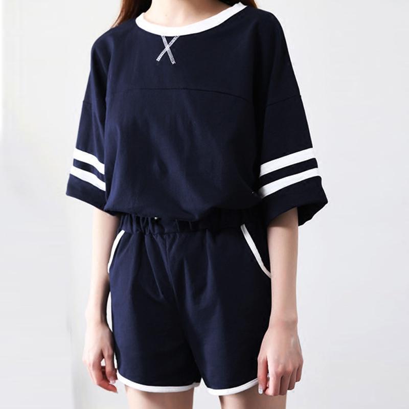902新款夏天衣服青少年中学生女装夏装2017新款少女时尚运动休闲两件