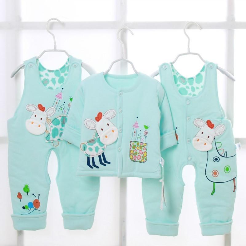902新款冬季婴幼儿薄棉保暖套装棉春秋男女宝宝夹棉衣服小童棉衣裤1岁