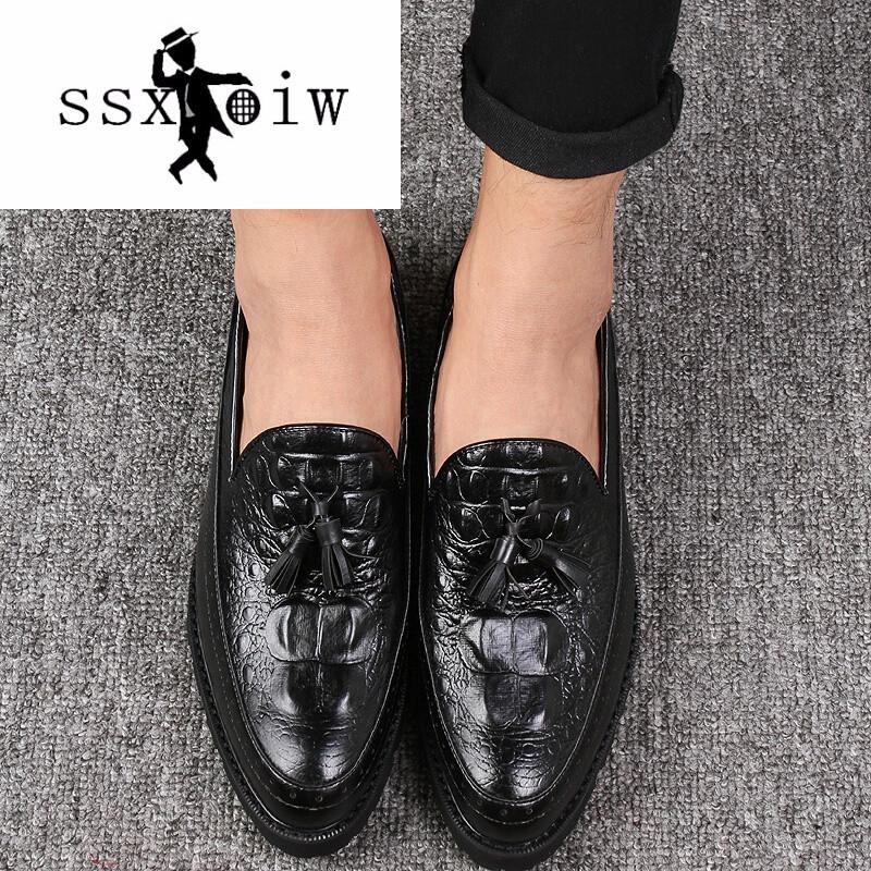 ssxoiw英伦风布洛克雕花男鞋巴洛克复古欧美商务韩版真皮休闲皮鞋男潮
