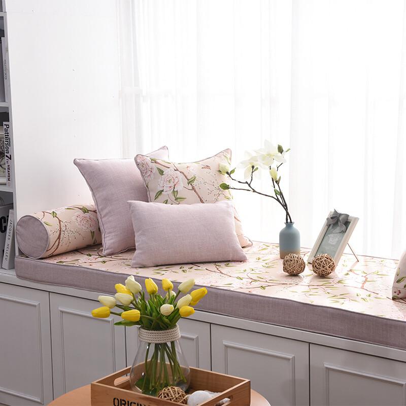 doxa美式乡村漂飘窗垫窗台垫定做卧室阳台垫子榻榻米卡坐垫定制四季款