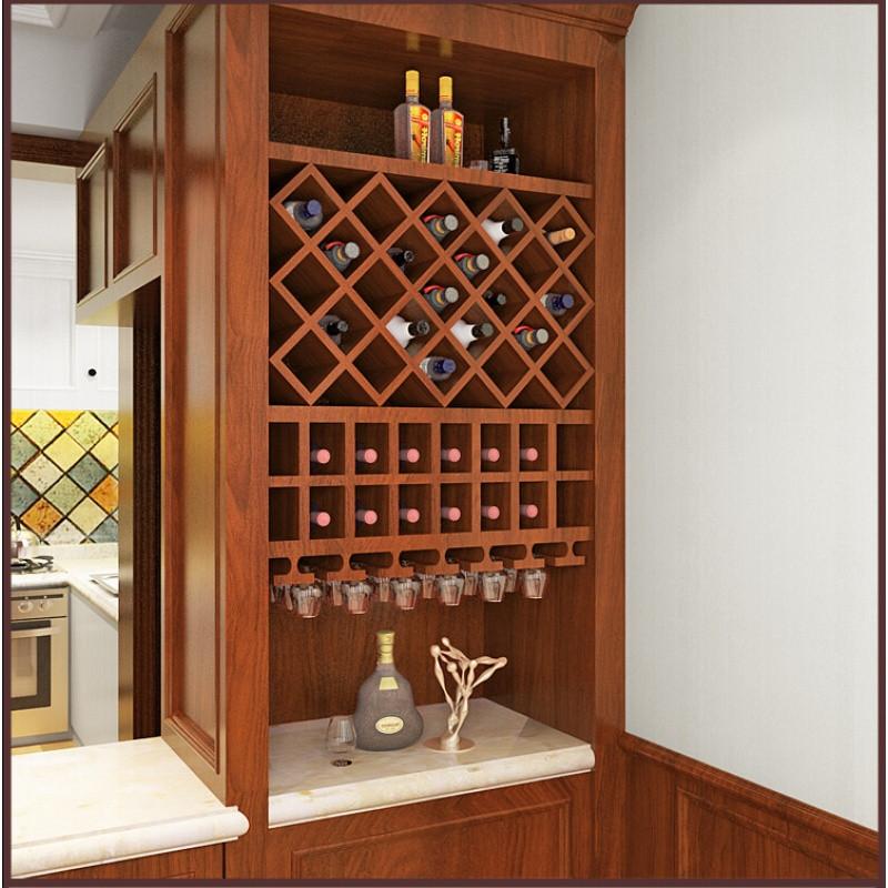 doxa红酒格子定制菱形酒架酒柜简约家用方形格子实木酒叉组装现代t