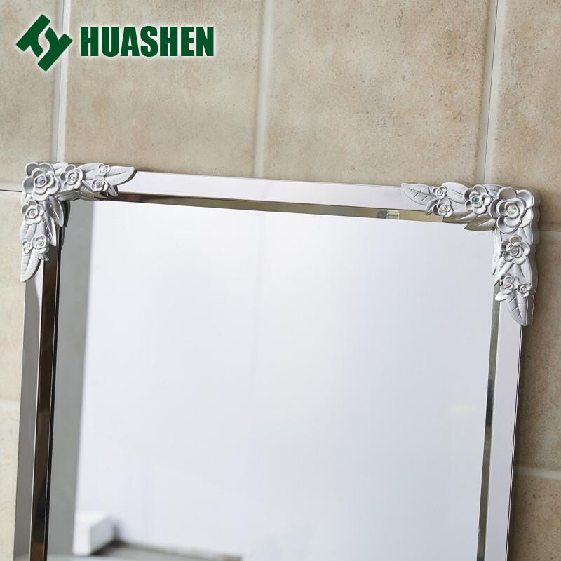 doxa不锈钢边框全身镜防爆穿衣镜子简约壁挂镜贴墙镜悬挂试衣镜金色带
