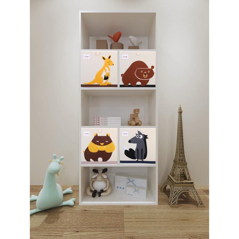 doxa儿童书柜子自由组合格子柜书架书房设计置物柜组合木柜玩具收纳柜