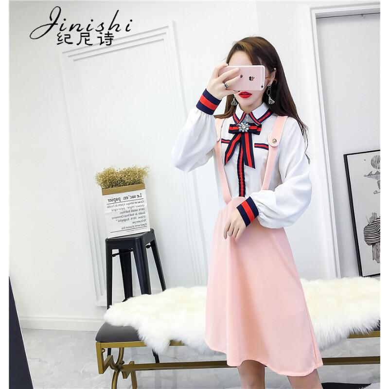 纪尼诗(jinishi)2018秋冬新款甜美可爱连衣裙