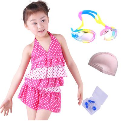2018兒童泳衣女童大童韓版分體裙式保守大小女孩學生遮肚寶寶泳裝