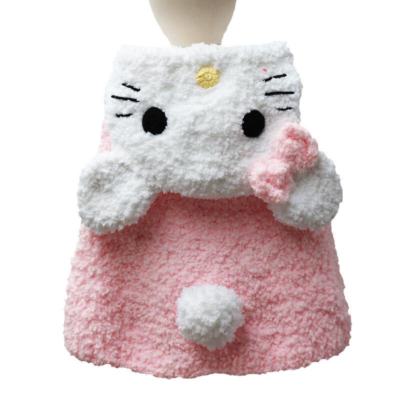 手工编织儿童卡通斗篷diy材料包珊瑚绒毛线宝宝牛奶棉