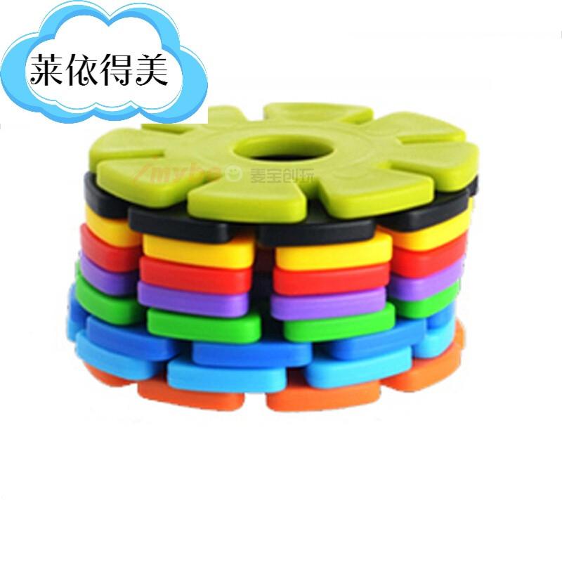 益智玩具塑料积木幼儿乐园雪花片拼插搭构建片儿童算数字学习zg