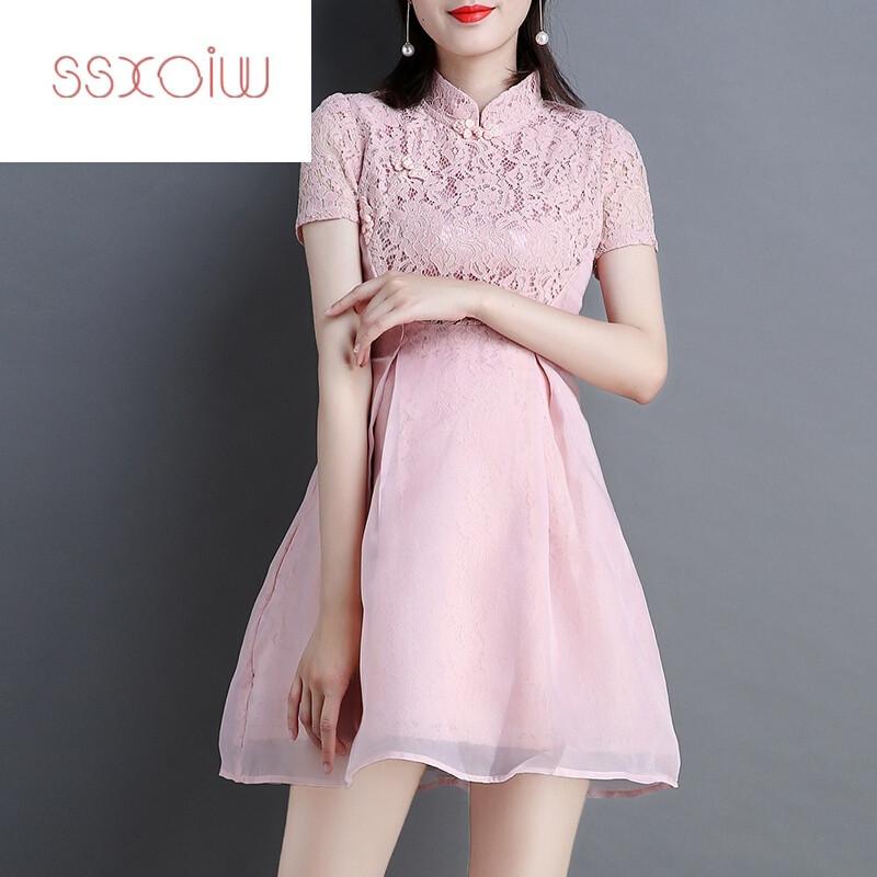 蕾丝蓬蓬裙连衣裙公主