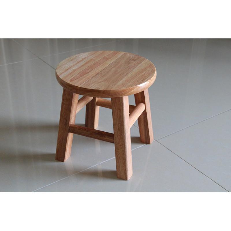橡木小圆凳实木小圆凳子换鞋凳矮凳小板凳儿童凳家庭多用凳