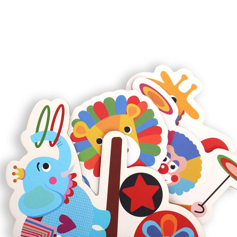 动物交通马戏团拼图2岁3-6岁以上儿童纸质玩具卡通创意宝宝幼儿拼图