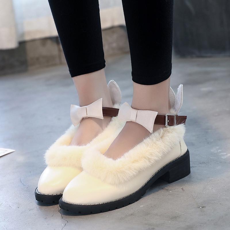 公主洛丽塔鞋子女学生可爱圆头文艺百搭中跟学院软妹小皮鞋女日系