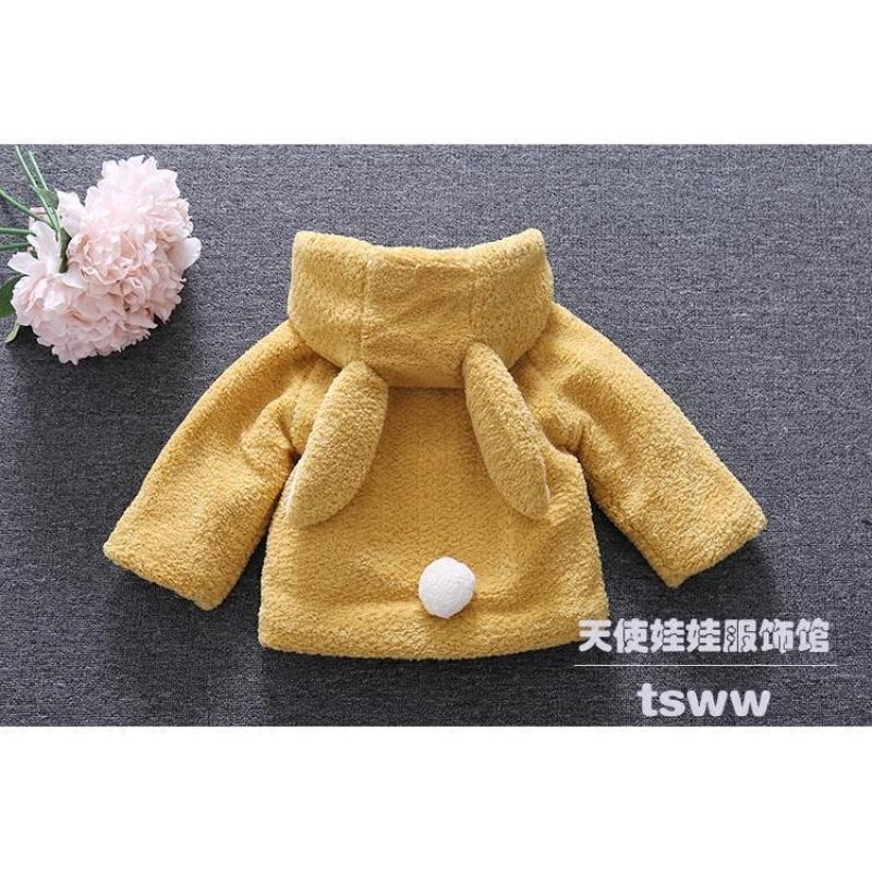 童装女童加绒毛毛衣外套2017新款冬季女宝宝韩版保暖大衣儿童棉衣