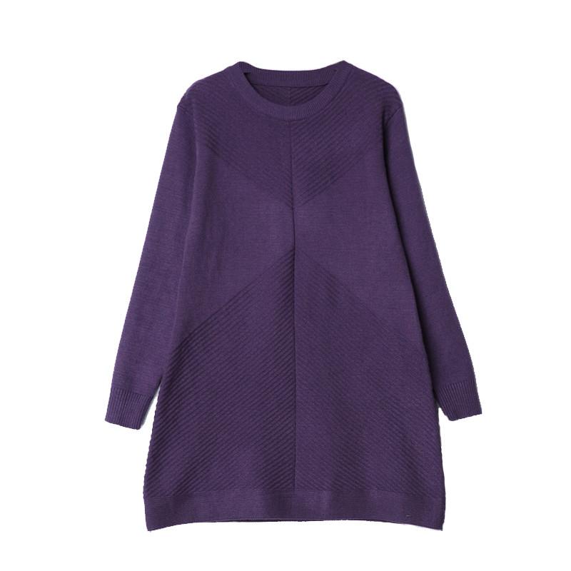 加肥加大码女装毛衣2017秋冬新款羊绒衫中长款宽松显瘦胖mm针织衫