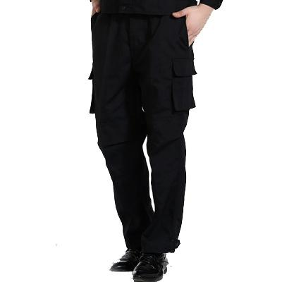 黑色作訓服褲子保安工作褲男耐磨工褲長褲汽修勞保服工裝褲多口袋