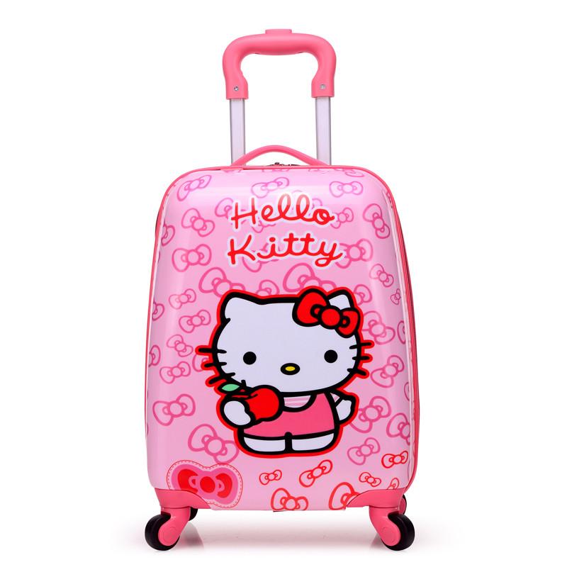 新款18寸儿童拉杆箱旅行箱万向轮16寸行李箱20寸可爱卡通男女小拖箱包