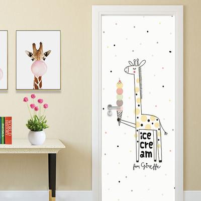 舒厅创意家居 包门贴纸装饰画客厅卧室木门宿舍翻新贴