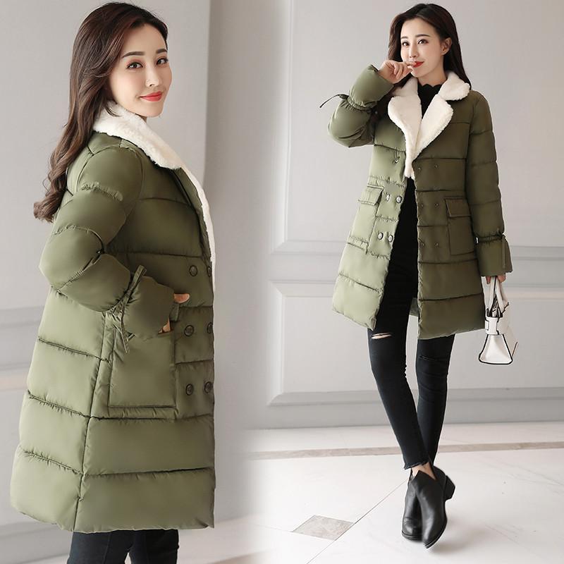 新款反季处理冬装羽绒棉服女中长款韩版棉衣学生棉袄可爱软妹冬季外套