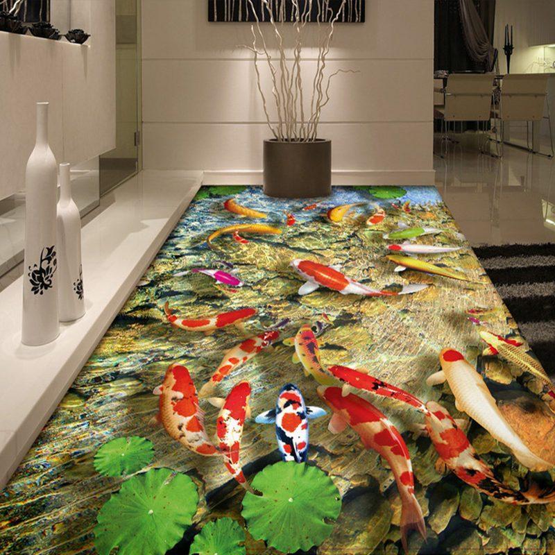 3d客厅卧室茶几地毯儿童卧室床边毯长方形抽象风景时尚简约地毯